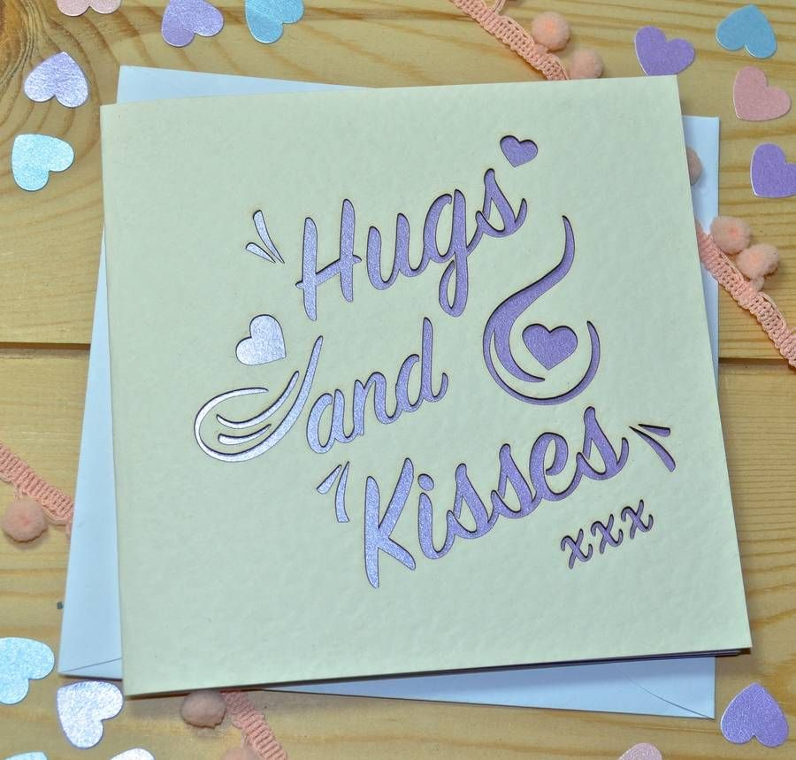 Hugs and kisses laser cut card laser cutting hugs and kisses laser cut card m4hsunfo