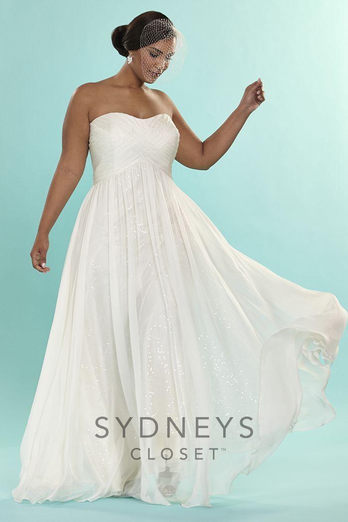 Strapless Informal Bridal Gown | Beach wedding dresses | Pinterest