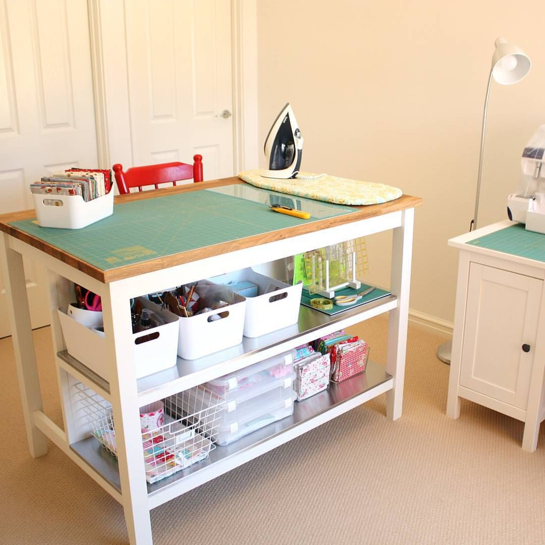 kitchen cutting table Nearly finished organising my sewing room The Stenstorp Kitchen Island is the