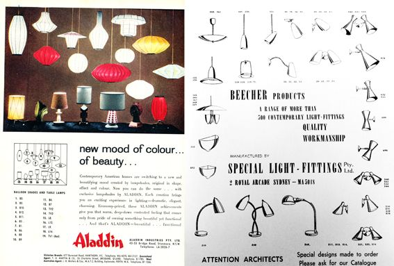 Australian Mc Lighting Adverts Mid Century