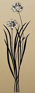 "Garlic Chives by Joyce Yarbrough Silhouette (Paper&Scissors) ~ 20"" x 7"""