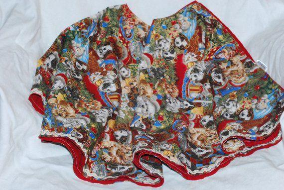 Santa Puppies Christmas Tree Skirt Christmas holidays gift dog pet