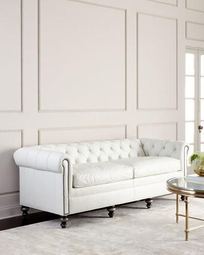H8qbq Old Hickory Tannery Whitestone Chesterfield Leather Sofa White Leather Sofas Leather Sofa White Leather Furniture