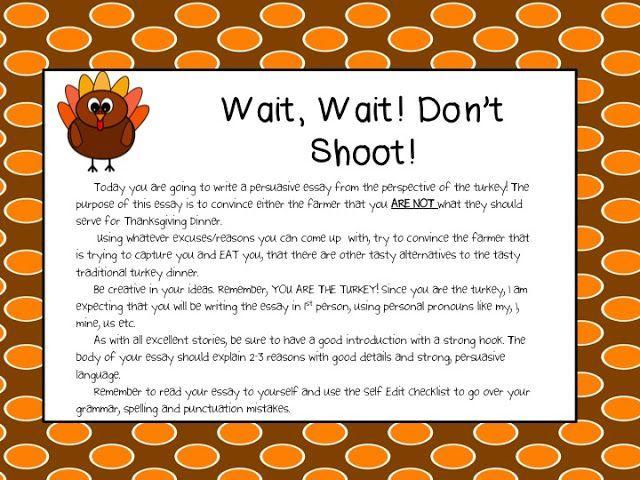 Wait, Wait! Don't Shoot: A fun 4th/5th grade persuasive writing ...