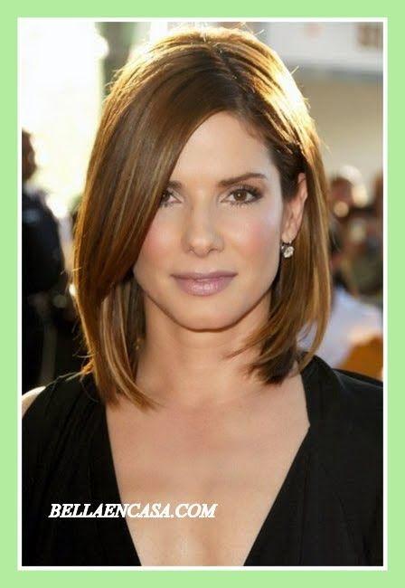 Cortes pelo para cara triangular mujer