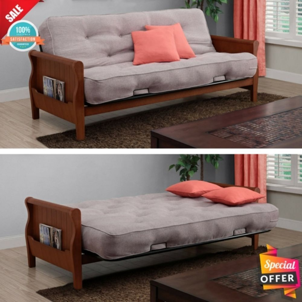 Convertible Futon Sofa Bed Sleeper Full Size Large Couch