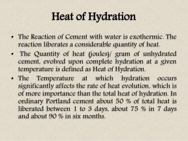 Hydration Of Portland Cement : Concrete heat of hydration are bdcs pinterest