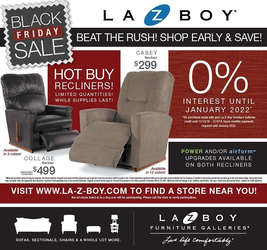 La Z Boy Black Friday 2018 Ads Scan Deals And Sales See The La Z Boy Black Friday Ad 2018 At 101blackfriday Com Find T Black Friday Ads Black Friday La Z Boy