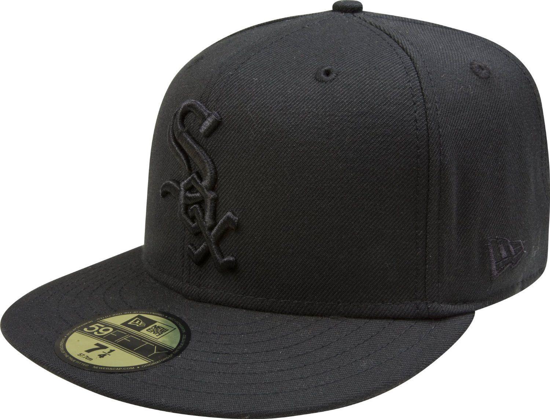 MLB Chicago White Sox Black on Black 59FIFTY Fitted Cap  Amazon.com.mx   Deportes y Aire Libre 79ebf940e9e