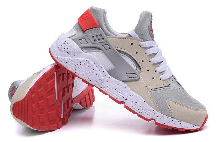 Free Shipping Only 69$ Nike Zoom AIR HUARACHE FLAT SPIN BEIGE CHALK LASER  CRIMSON PINK