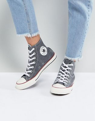 Converse Chuck Taylor All Star Hi Sneakers In Stonewashed Black | Converse  chuck taylor, Converse chuck and Converse