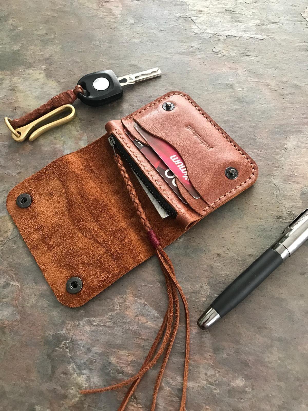 Handmade leather womens wallet handmade full grain
