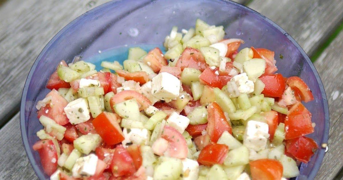 Sommerküche Tomaten : Tomaten gurken salat mit feta salate salat