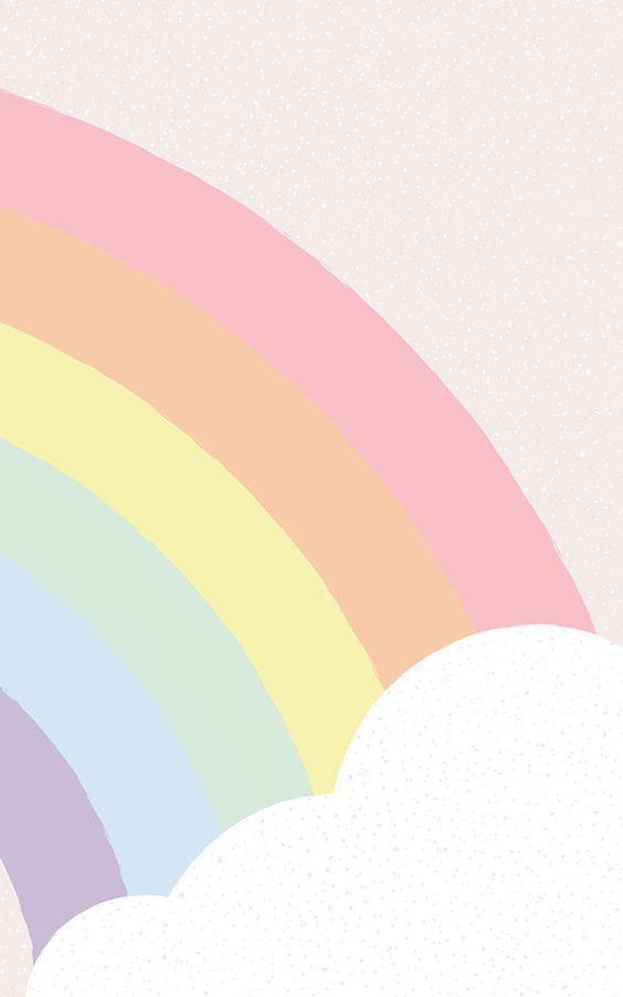 decoración del dormitorio del arco iris para las ideas dormitorio de las muchachas lindo, perfecto para las niñas de todas las edades. Sea que una niña o mujer adulta, estos fondos de pantalla del arco iris pastel se verá hermoso cuando se implementa como