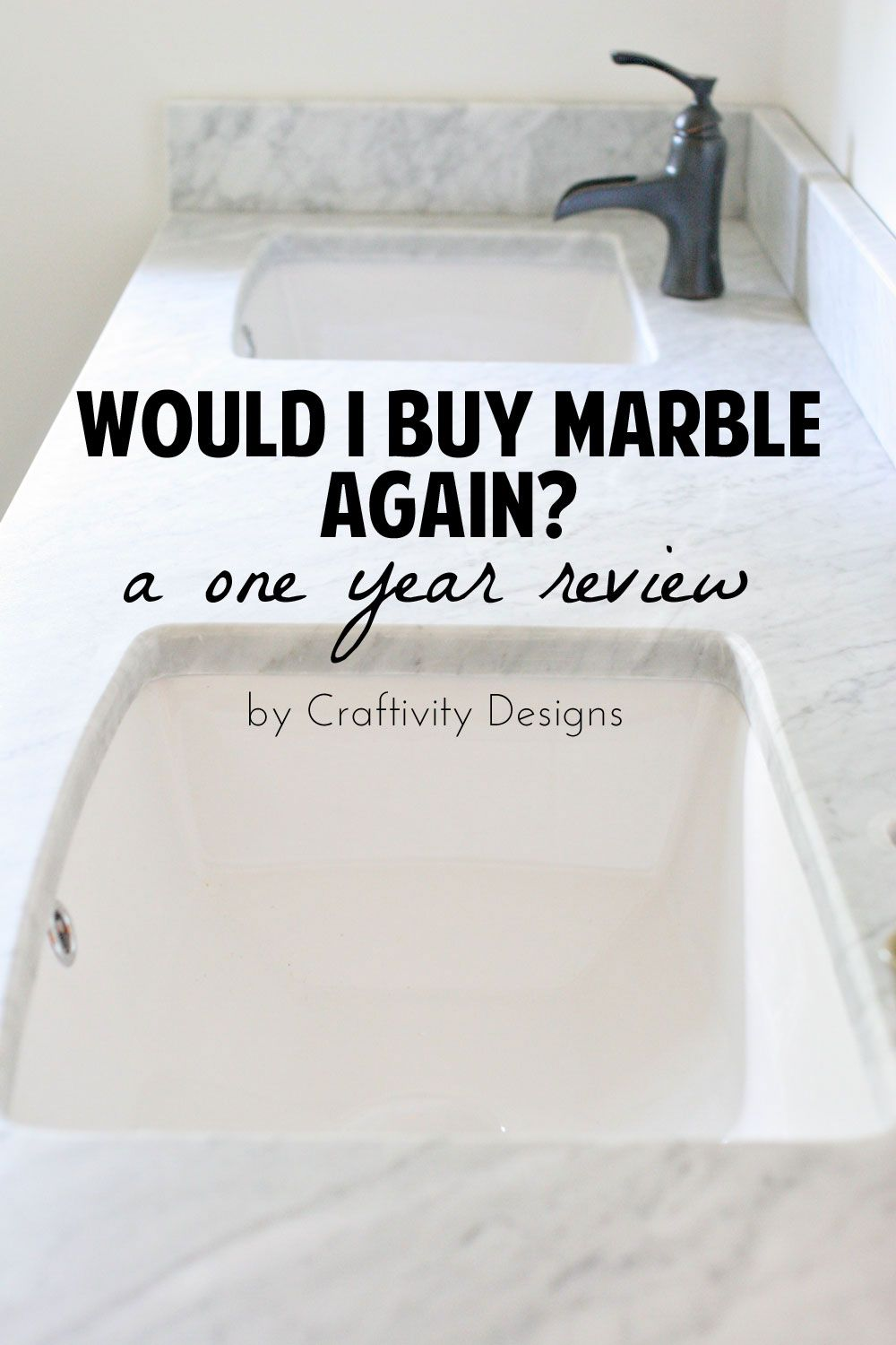 A 1 Year Review Of Marble Vanity Top How To Clean Protect Would I Again Craftivity Designs