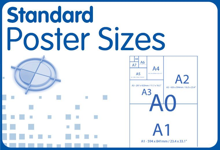 Standard Poster Sizes Standard Poster Size Poster Size Poster