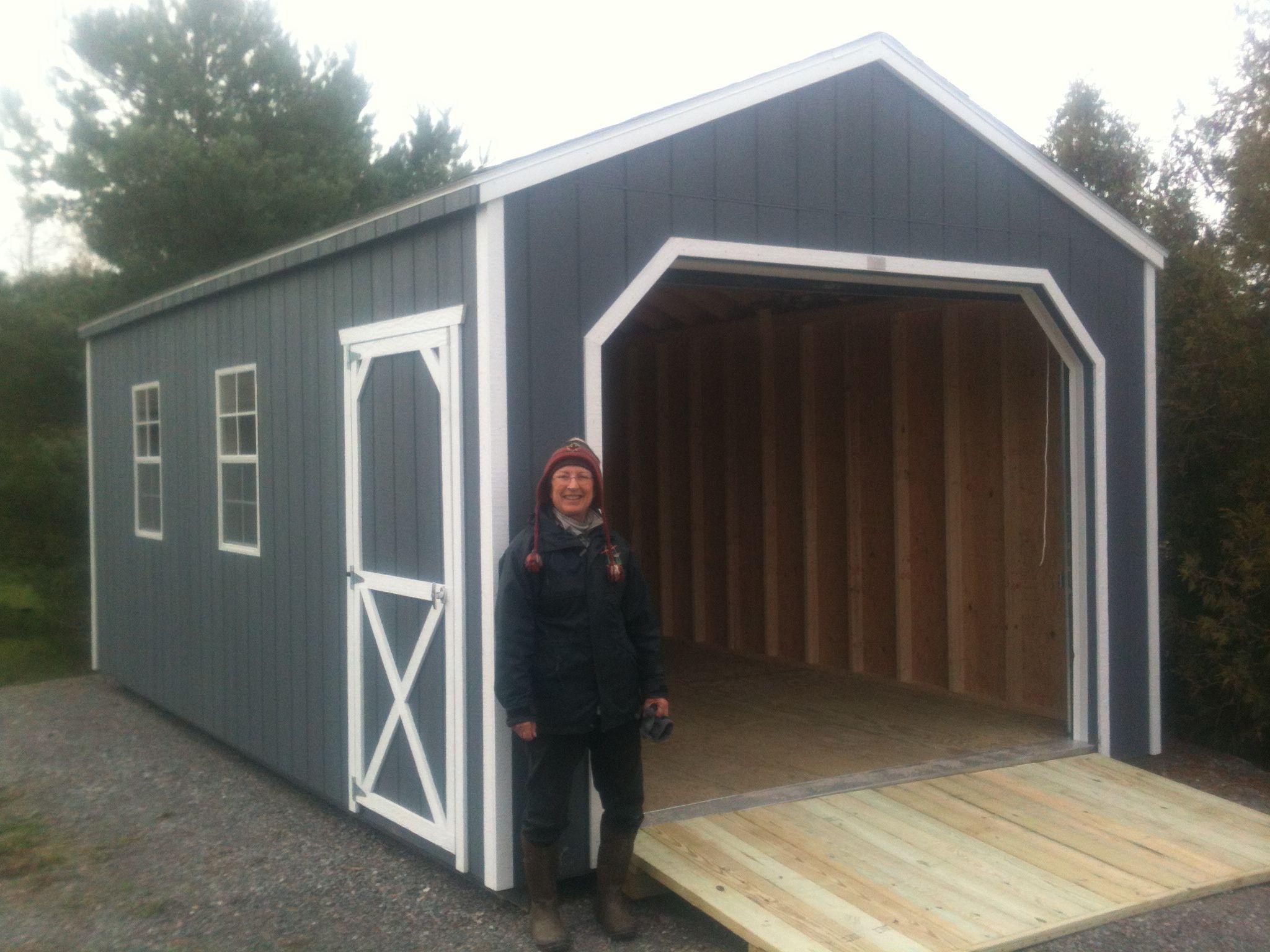 12' X 20' Wooden Portable Garage Delivered Fully