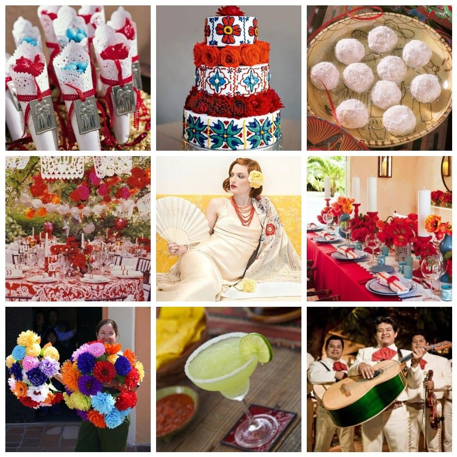 Mexican wedding decoration ideas  mexican themed wedding ideas  Wedding Ideas  Pinterest  Cake