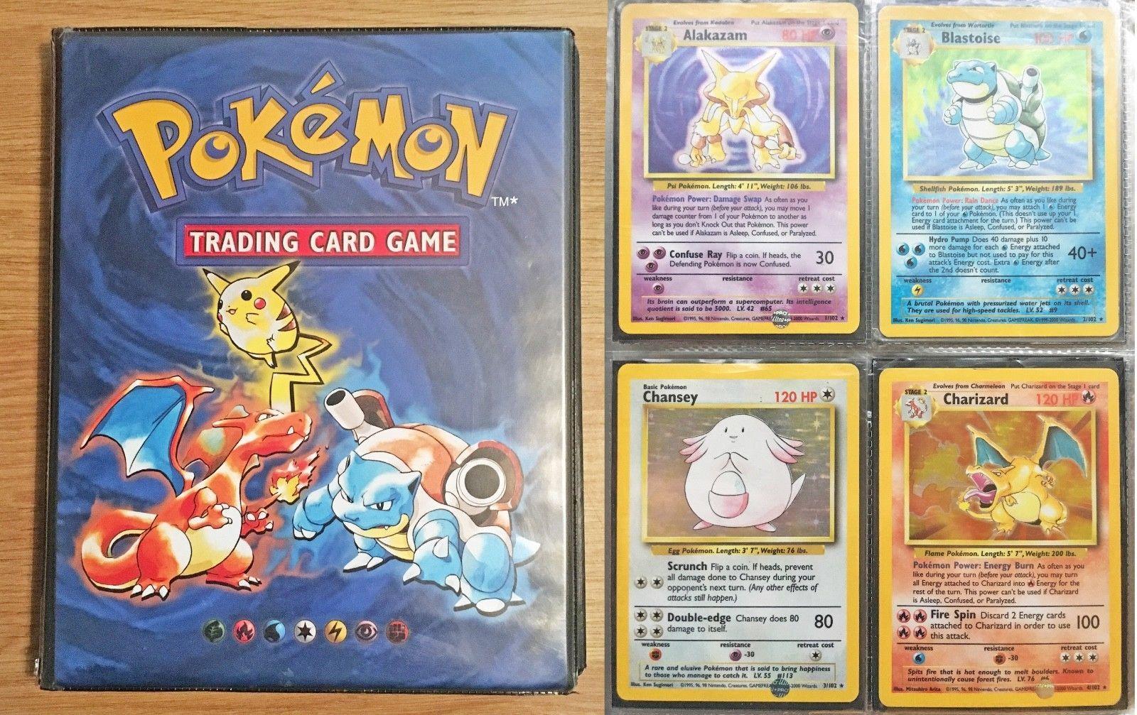 Pokemon Cards 4th Print Base Set 1999 2000 98 Cards