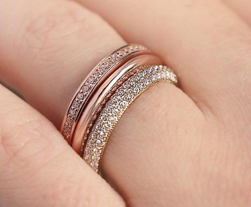 23 alianças em ouro rosê para você se inspirar   Alianças   Anéis de ... cb20ff0654