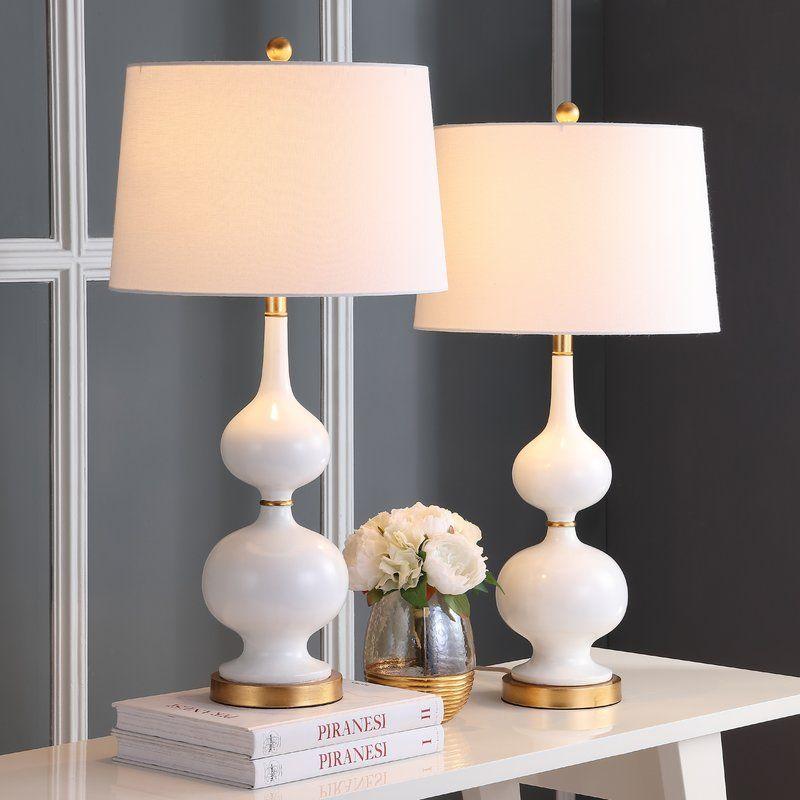 Cornelius 31 Table Lamp Set White Table Lamp Table Lamps Living Room Lamps Living Room Living room table lamp sets