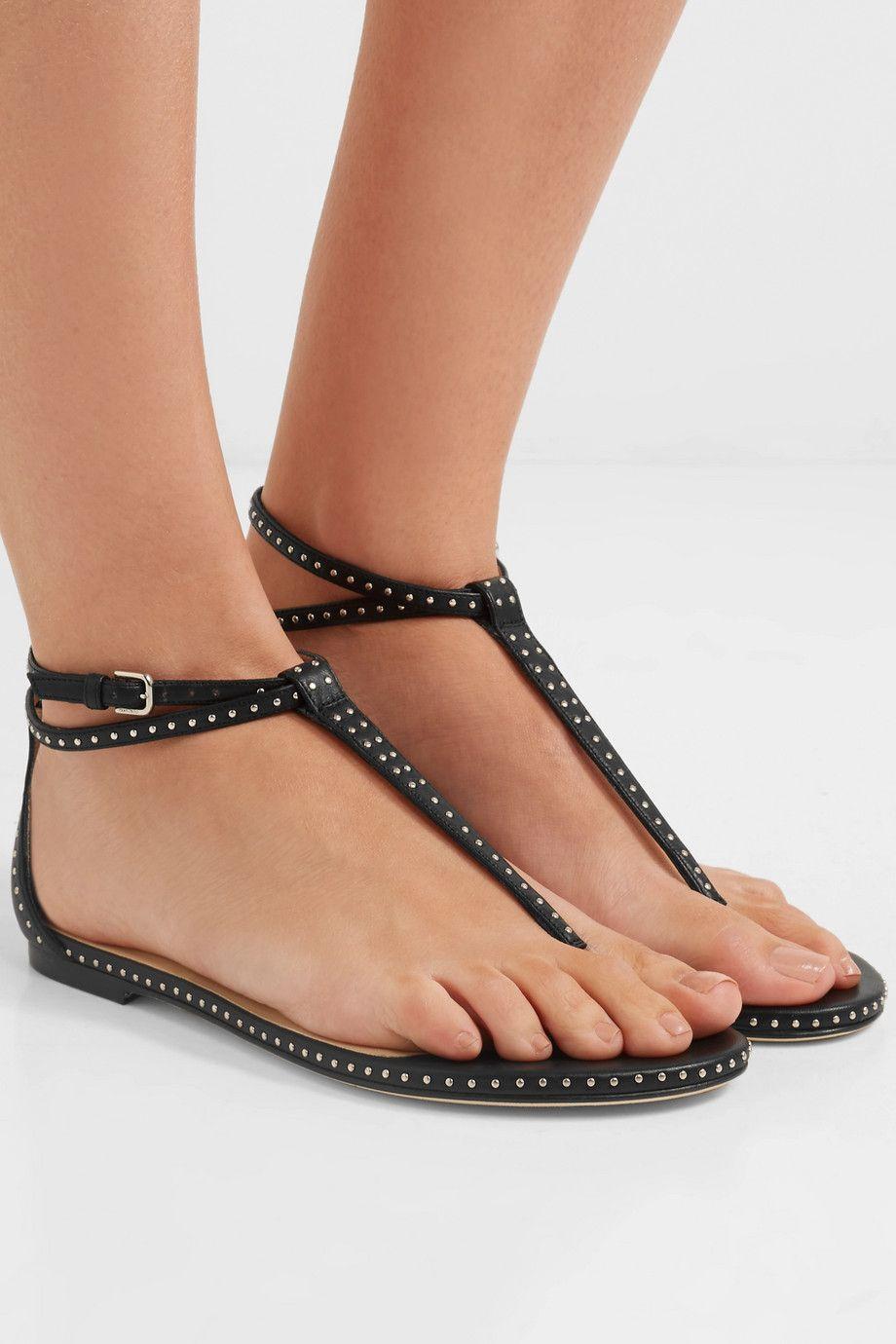 207c6cbc0a8 Jimmy Choo Afia studded leather sandals  595