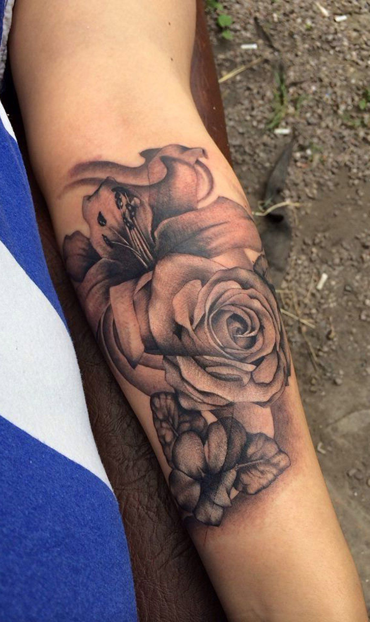 Black Vintage Rose Forearm Tattoo Ideas for Women - www.MyBodiArt ...