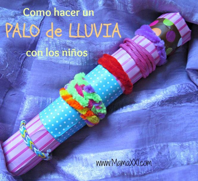 Palo Con Lluvia Los Como Hacer NiñosTubos Un De Cartón Palos kXZPiu