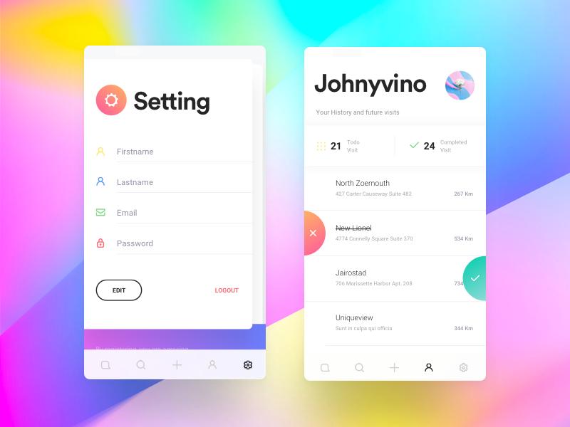 Todo app Mobile app design, Im app, App