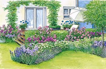 harmonische terrassen gestaltung garten pinterest garten garten ideen und garten. Black Bedroom Furniture Sets. Home Design Ideas