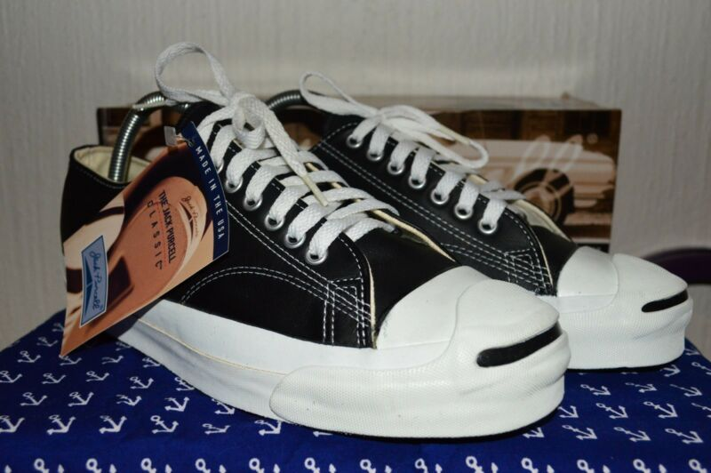 06e4210be5c03 Converse Jack Purcell Vintage Leather Deadstock OG MADE IN USA 8.5 ...