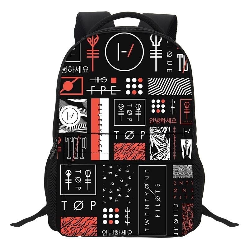 75f241464c VEEVANV Fashion Cartoon Boys Laptop Shoulder Bags Twenty One Pilots  Printing Backpacks School Bookbag for Teenagers Boys Mochila