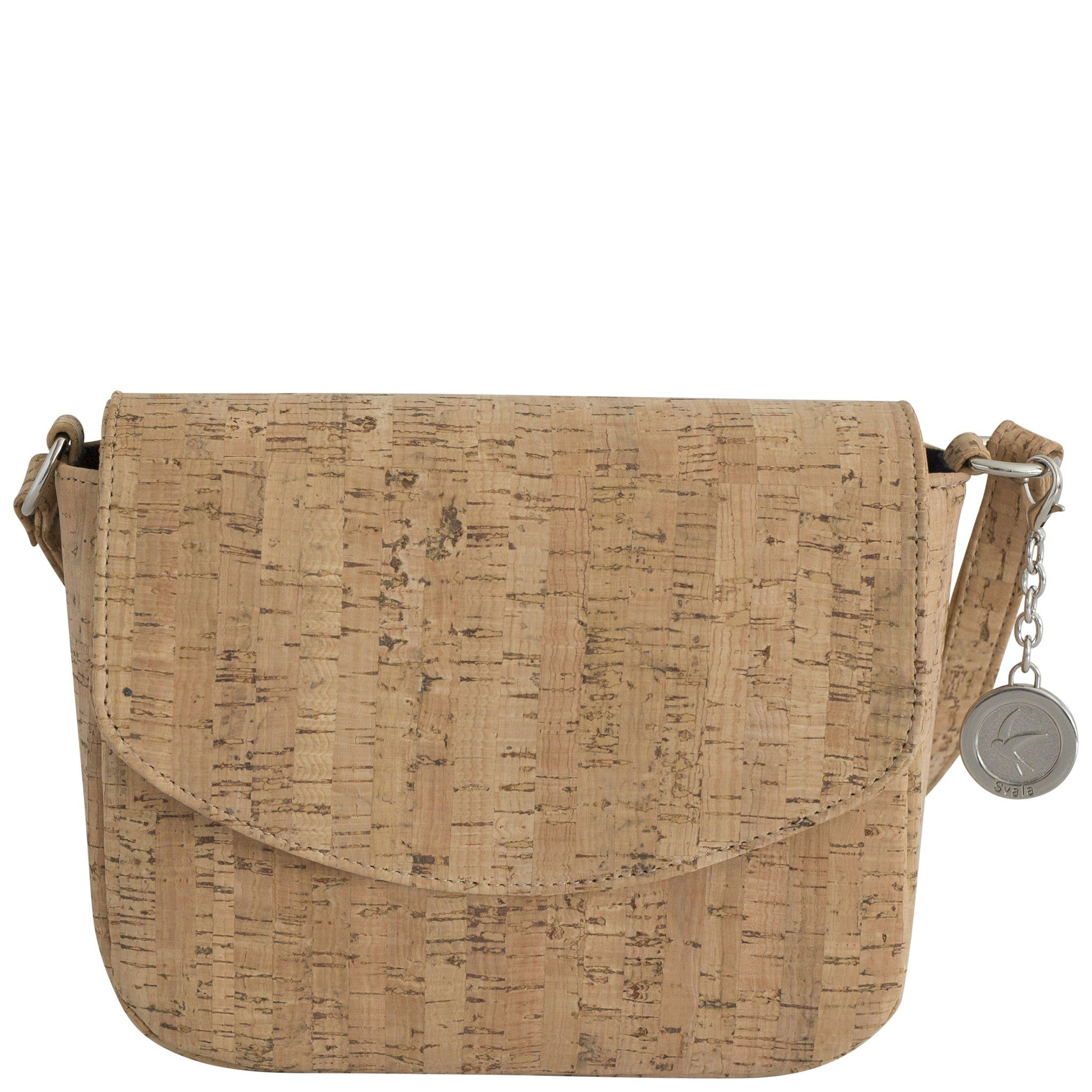 The Svala Vegan Tashi Crossbody Bag Handcrafted From Natural Cork And Lined With Organic Cotton Recycled Plastic Bottles