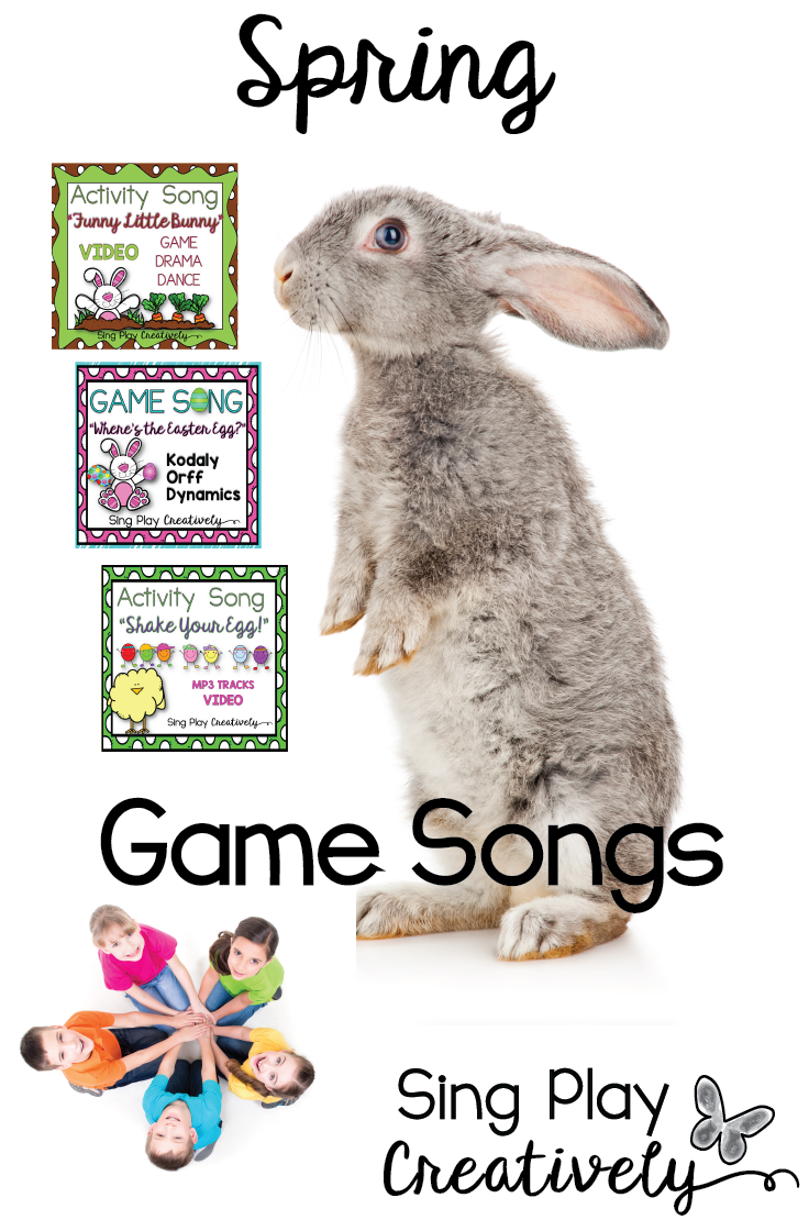 Music Class in the Spring is the most fun with Game Songs that teach and reinforce music concepts using Kodaly and Orff methods. Sing Play Creatively in your classroom today.
