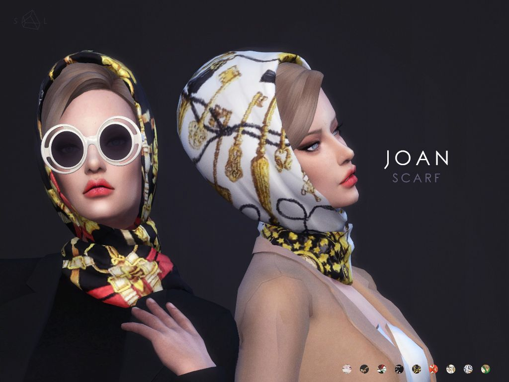 The sims 4 hair accessories - Accessories Clothing Dress Scarf Set Joan By Starlord From The Sims Resource
