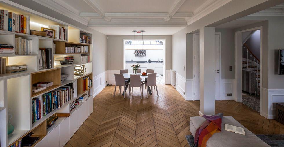 bibliothèque sur mesure agencement bois architecte intérieur paris ...