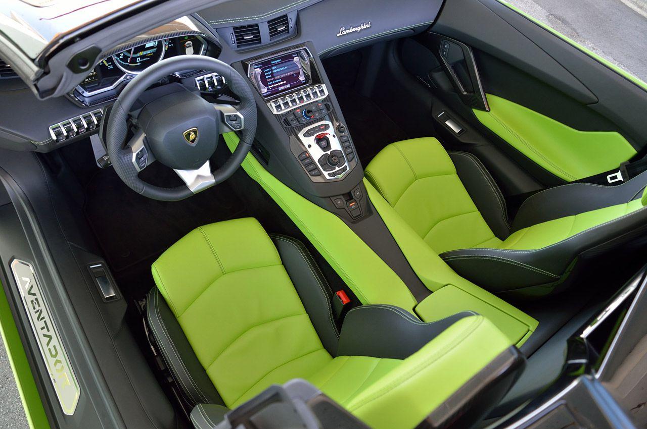 Lamborghini murcielago interior Green/Black
