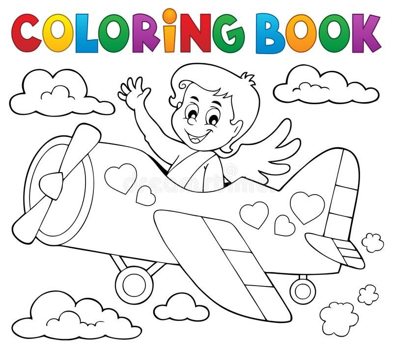 Coloring Book Cupid Topic 5 Eps10 Vector Illustration Spon Cupid Topic Coloring Book Ve Coloring Books Vector Illustration Illustration