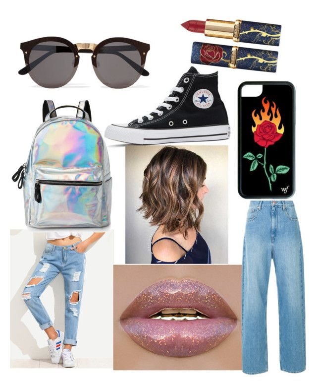 """""""👖#Boyfriendjeans 👖"""" by nxdja ❤ liked on Polyvore featuring Converse, IMoshion and Illesteva"""