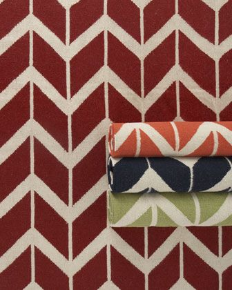 chevron rugs. love the color choices!