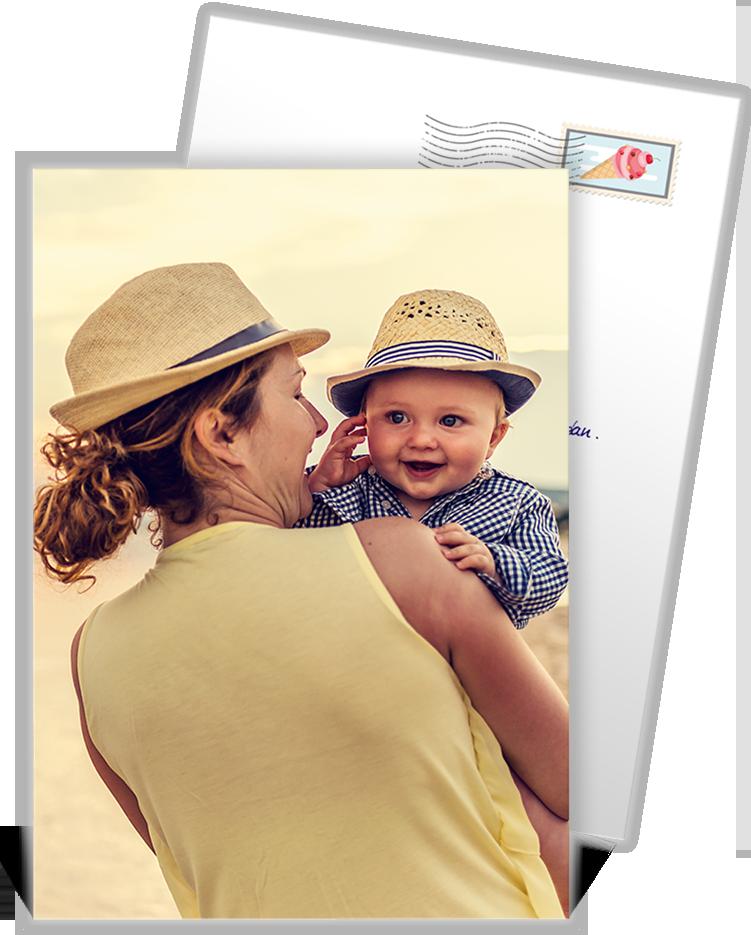 Carte postale personnalisée où vous pourrez mettre en avant la plus belle photo de vos vacance ...
