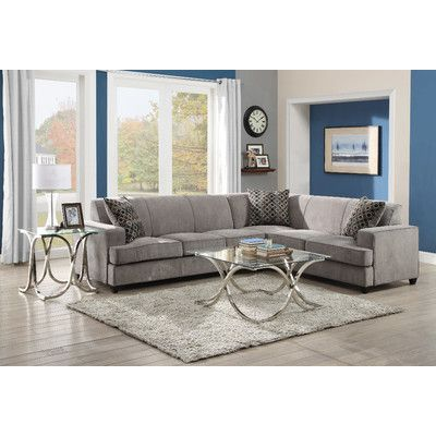 Darby Home Co Caswell Sleeper Sectional Sectional Sofa Grey Sectional Sofa Furniture