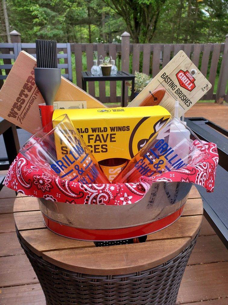 Fathers day gift basket for the grilling enthusiasts