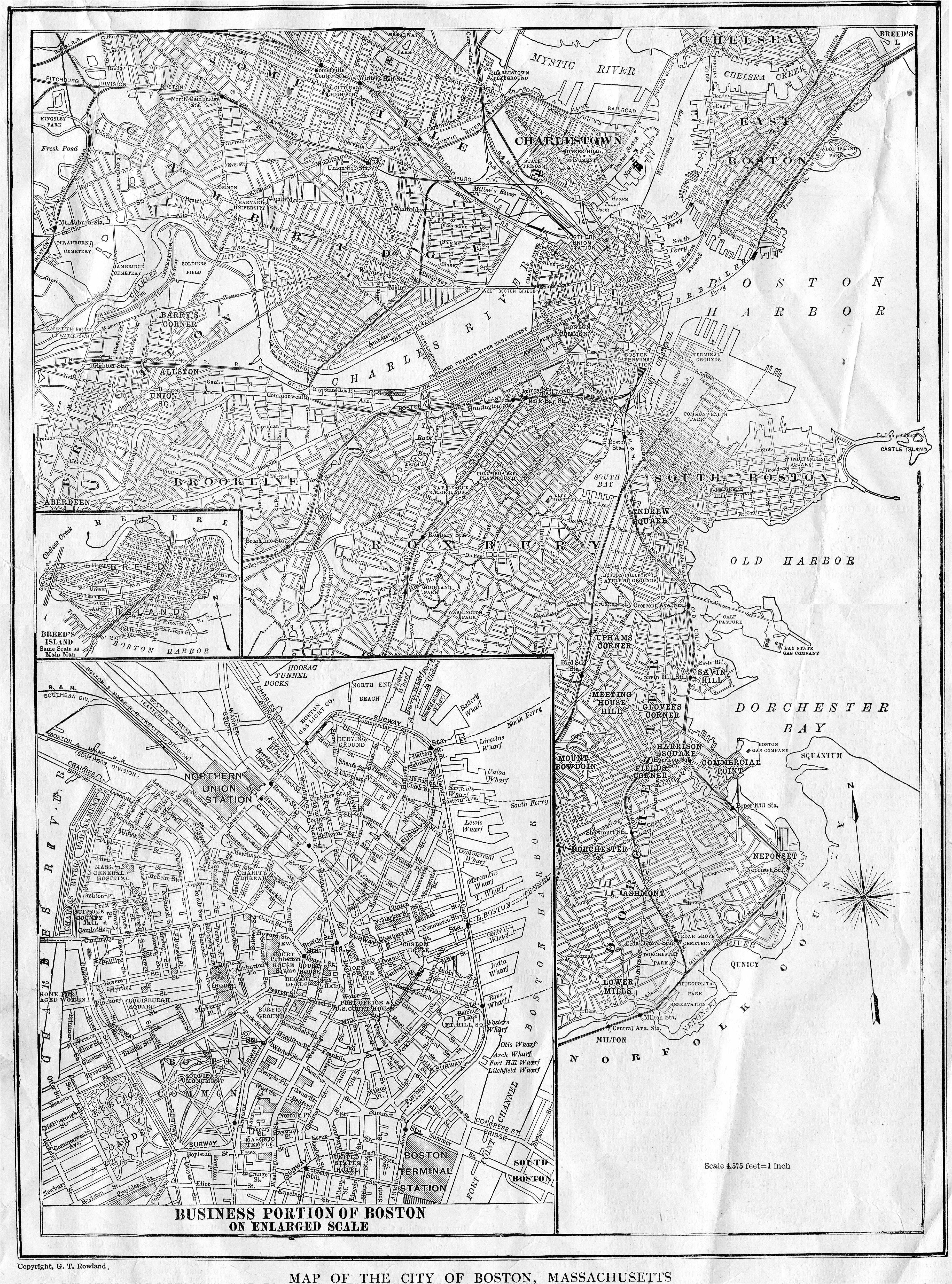 united states map and more 1922 boston map g t rowland bwjpg 36864972