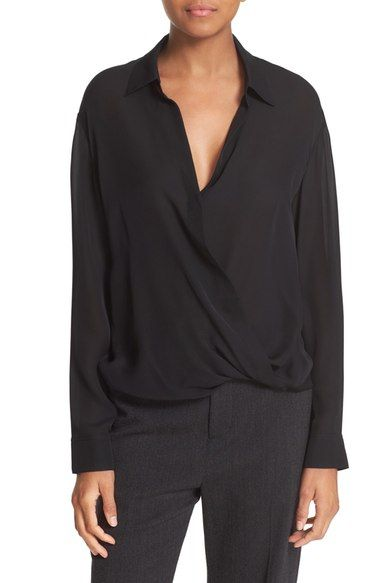239fd2c6ae04c4 Vince Faux Wrap High Low Silk Blouse available at  Nordstrom ...