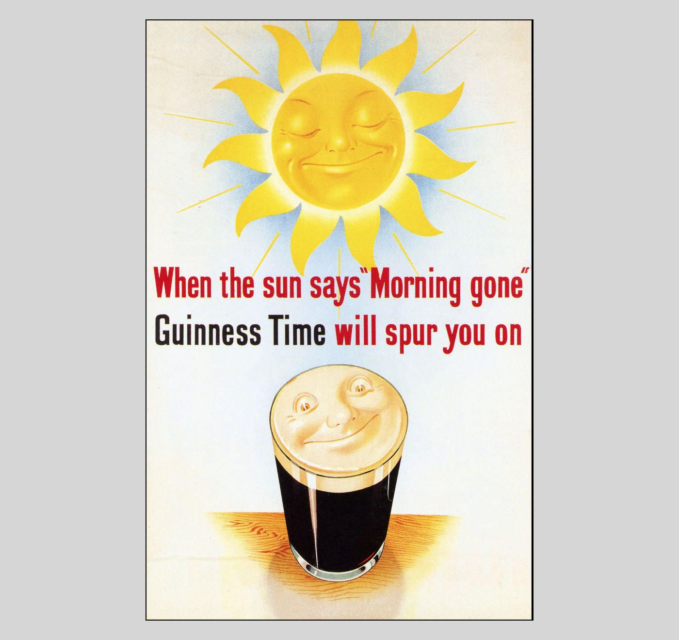 Morning Gone - 1950 Guinness - Vintage Poster Art Print Retro Style ...