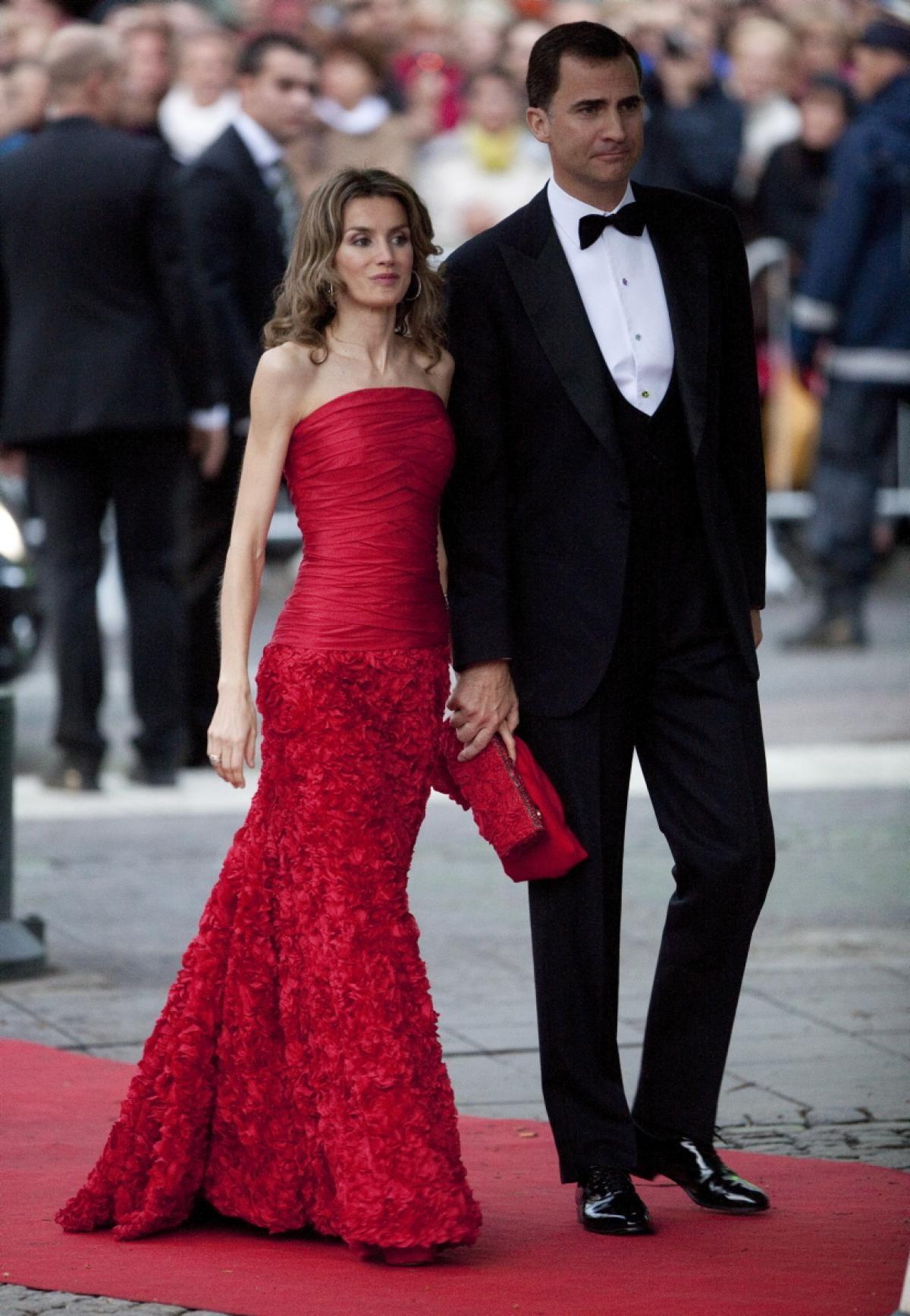 2010: Felipe e Letizia na festa que antecedeu o casamento de Victoria e Daniel da Suécia.