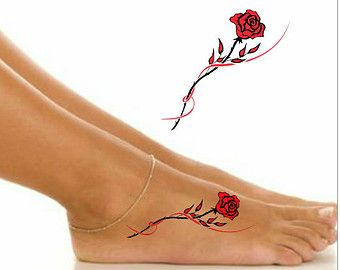 Temporary Tattoo Flower Waterproof Ultra Thin Realistic ...