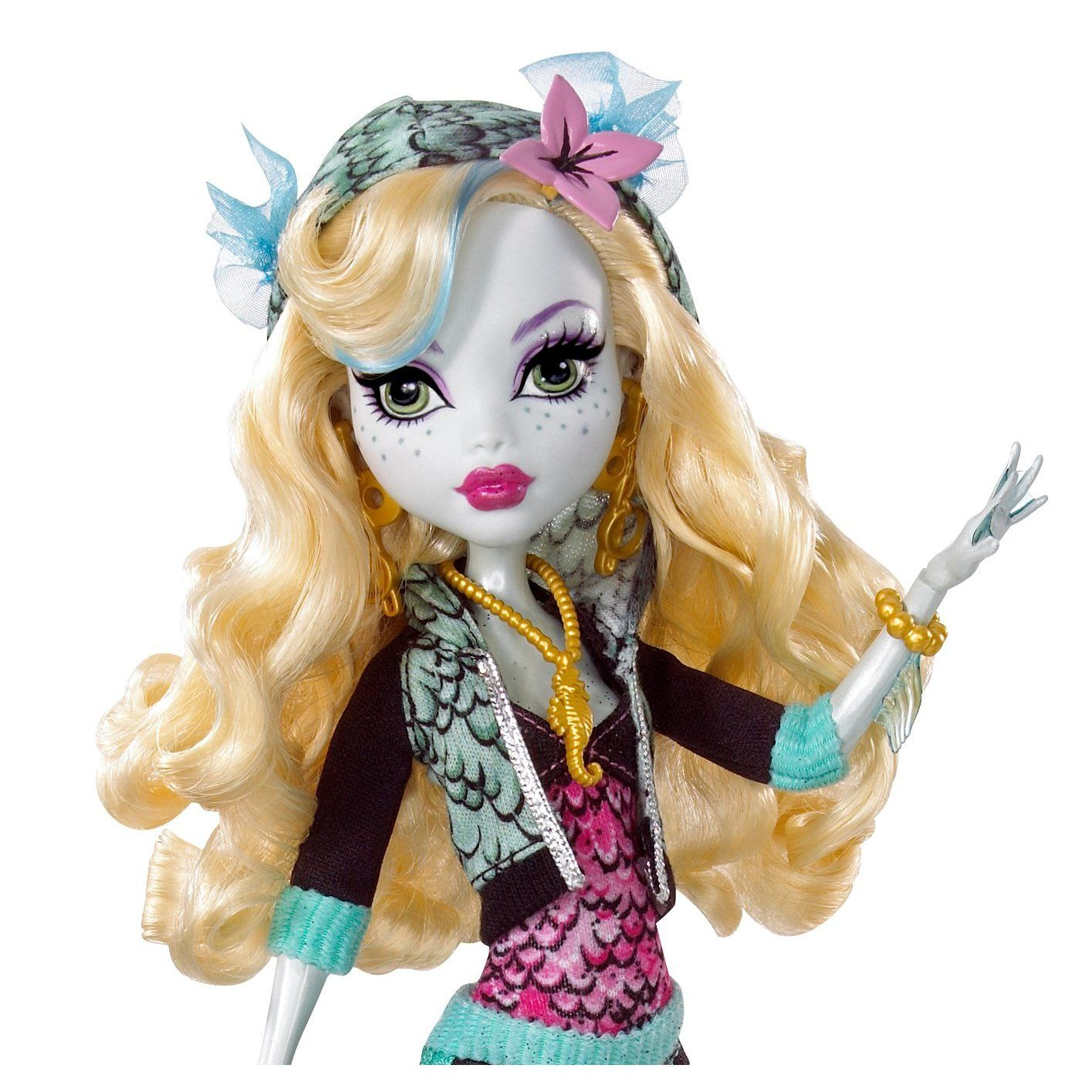 Monster High Toys : Amazon monster high lagoona blue doll and neptuna pet