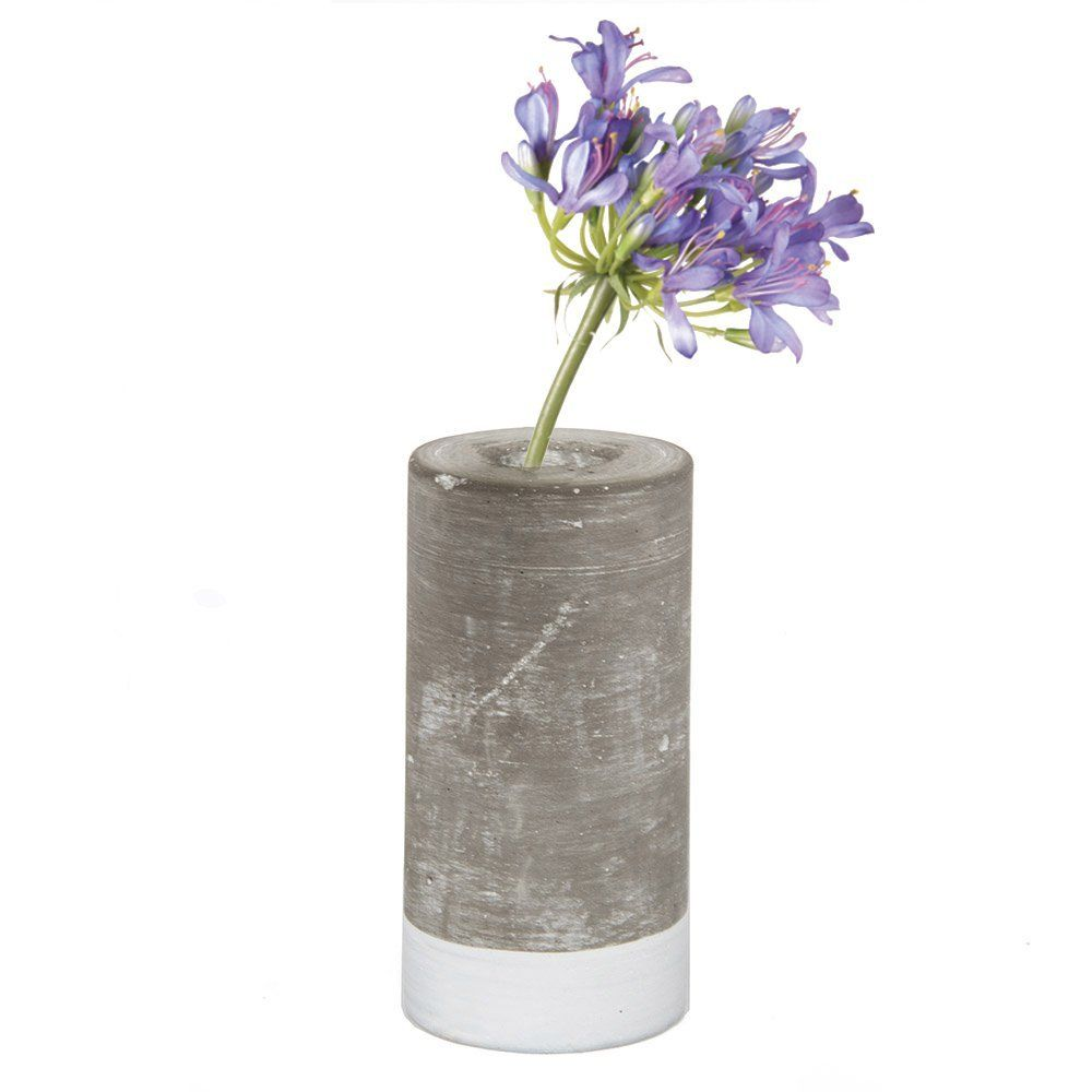 Chive cement bud flower vase with glass tube